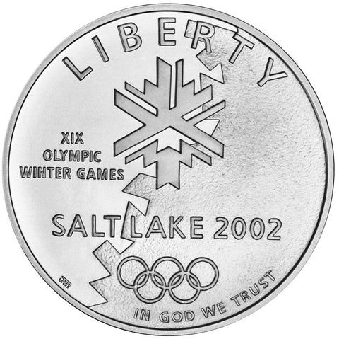 2002-P Olympic Winter Games Silver Dollar