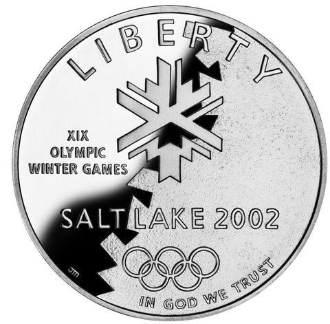 2002-P Olympic Winter Games Silver Dollar <br>Gem Brilliant Proof