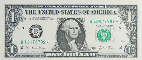 $1.00 2003 A Federal Reserve Note STAR B