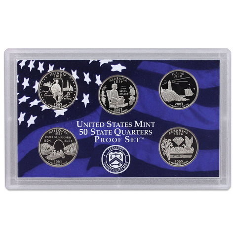 2003-S Statehood Quarter 5-coin Proof Set