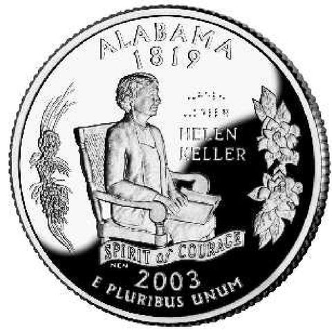 2003-D Alabama Statehood Quarter