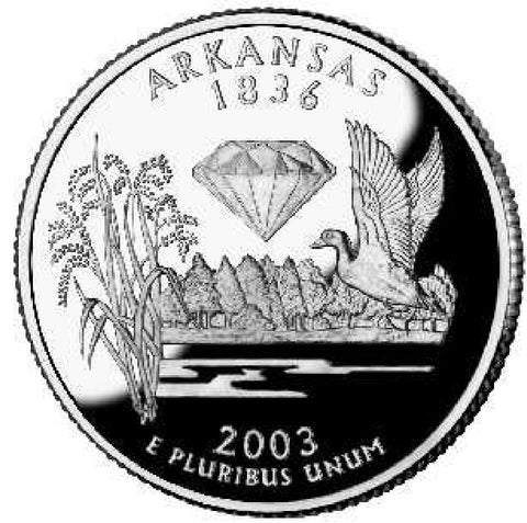 2003-P Arkansas Statehood Quarter