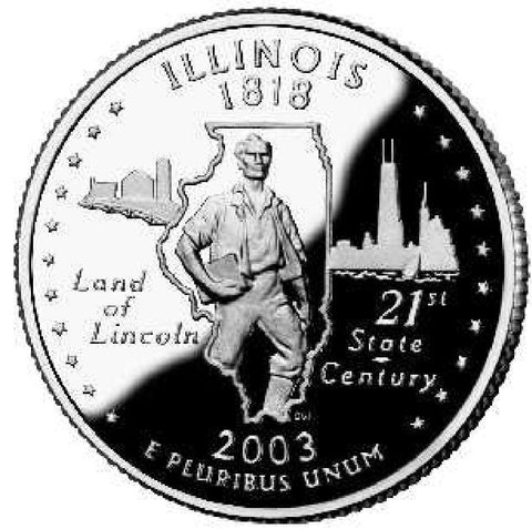 2003-D Illinois Statehood Quarter
