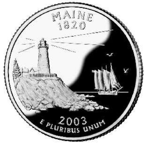 2003-P Maine Statehood Quarter