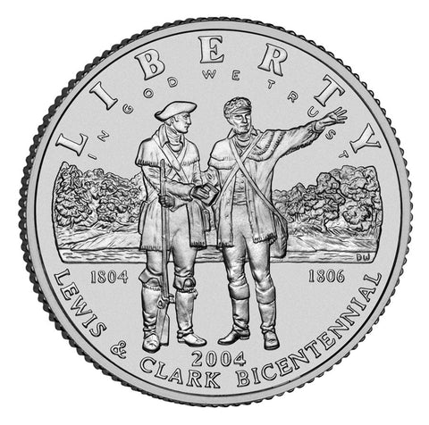 2004-P Lewis and Clark Silver Dollar <br>Gem BU in capsule