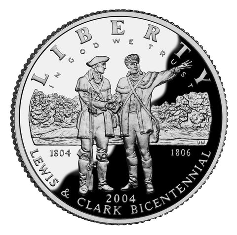 2004-P Lewis and Clark Silver Dollar