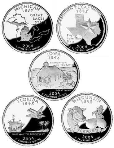 All 10 2004 P and D State Quarters