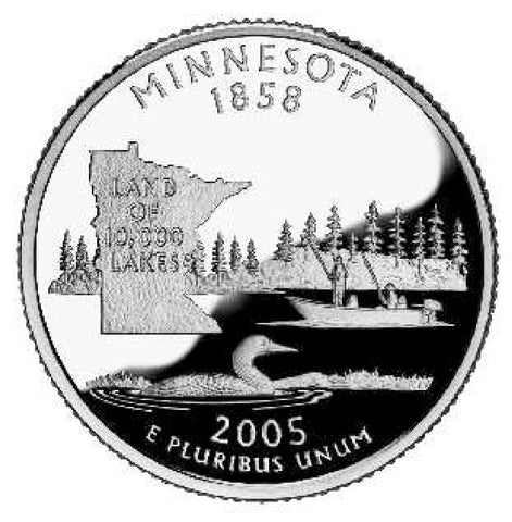 2005 Minnesota Statehood Quarter . . . . Choice BU