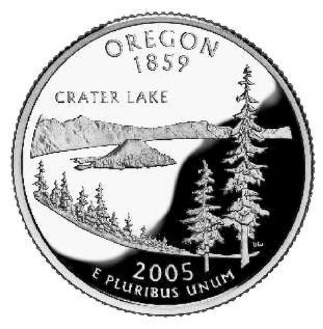 2005 Oregon Statehood Quarter . . . . Choice BU