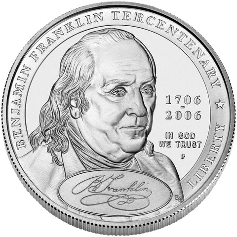2006-P Benjamin Franklin Founding Father Silver Dollar <br>Gem Brilliant Uncirculated