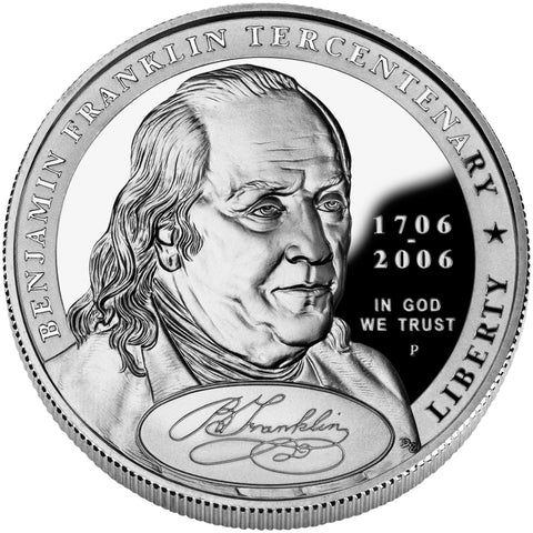 2006-P Benjamin Franklin Founding Father Silver Dollar