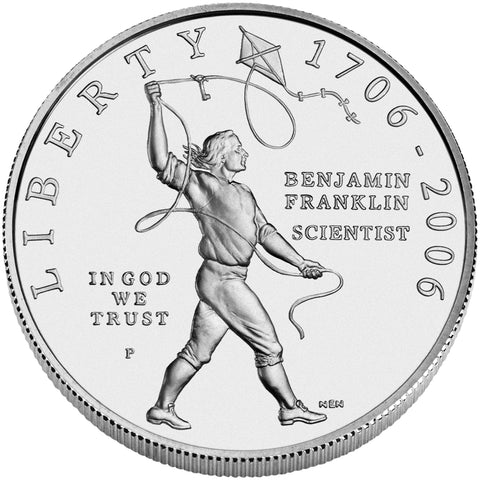 2006-P Benjamin Franklin Scientist Silver Dollar <br>Gem BU in capsule