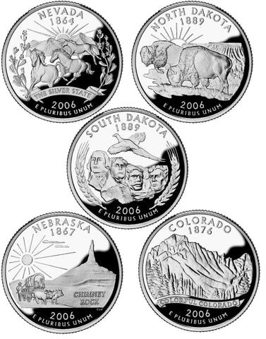 All 10 2006 P and D State Quarters