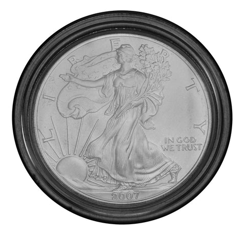 2007-W Burnished Silver Eagle