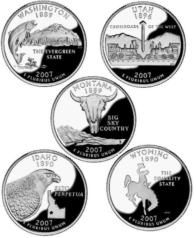 All 10 2007-P and D State Quarters