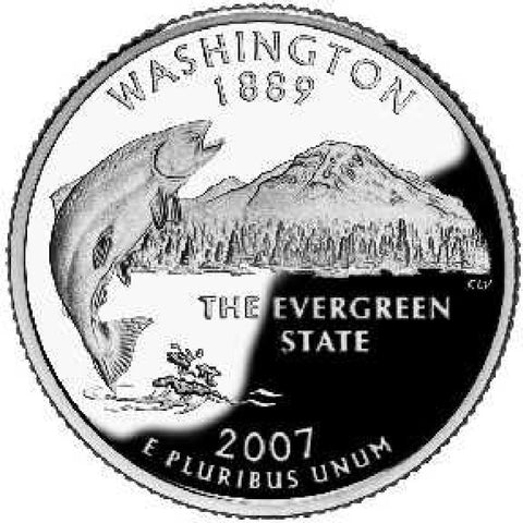 2007 Washington Statehood Quarter . . . . Choice BU