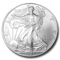 2007 Silver Eagle . . . . <br>Gem Brilliant Uncirculated