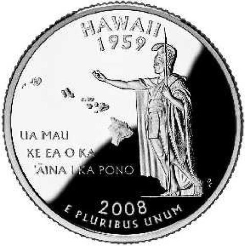 2008-D HAWAII Statehood Quarter