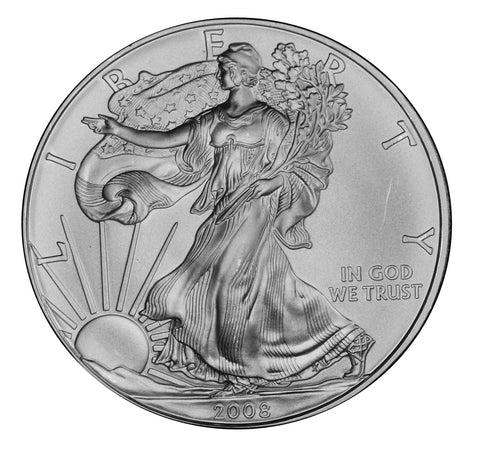 2008 Silver Eagle . . . . Gem Brilliant Uncirculated