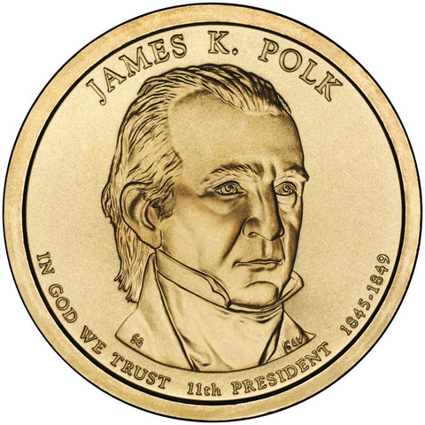 2009-P and D James K. Polk Presidential Dollars