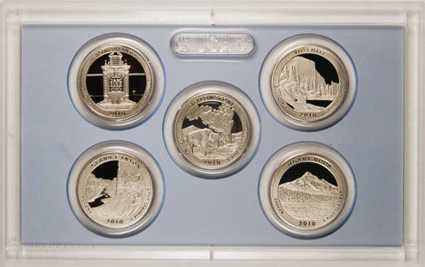 2010-S America the Beautiful Quarter 5-coin Proof Set