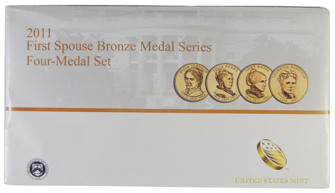 2011 first spouse bronze medal set . . . . Gem Brilliant Uncirculated
