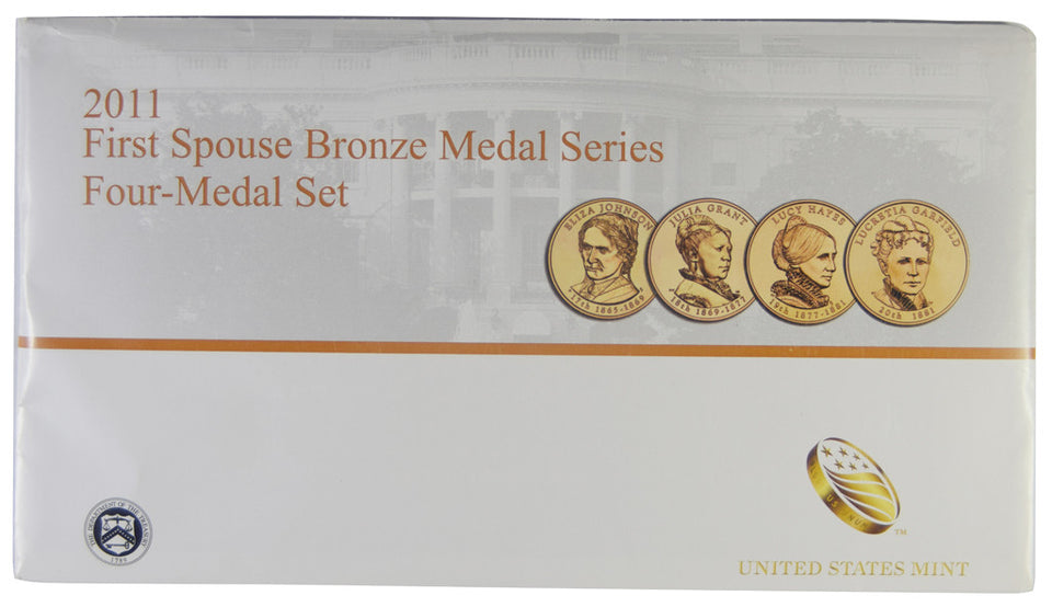 2008 First Spouse Bronze Medal Set Four Medals in Original Mint Packaging