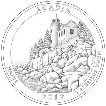 2012 Acadia National Park, ME Quarter