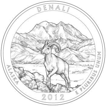 2012 Denali National Park, AK Quarter