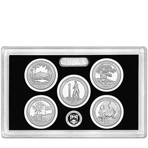 2013-S Silver America the Beautiful Quarter 5-coin Proof Set