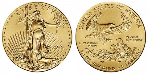 2015 1/10th Ounce American Gold Eagle . . . . Brilliant Uncirculated