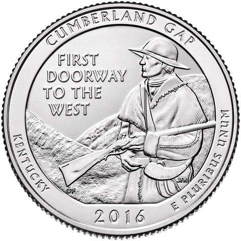 2016 Cumberland Gap National Historical Park, KY Quarter