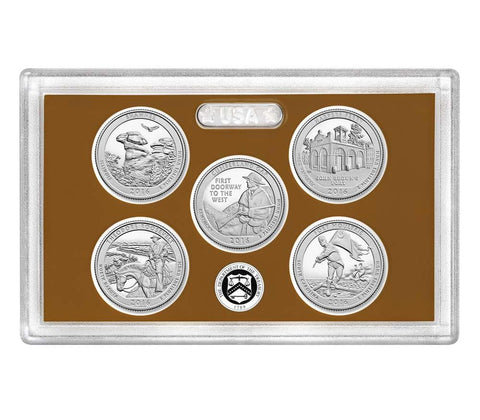 2018-S America the Beautiful Quarter 5-coin Proof Set
