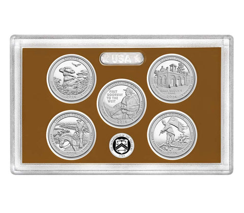 2016-S America the Beautiful Quarter 5-coin Proof Set