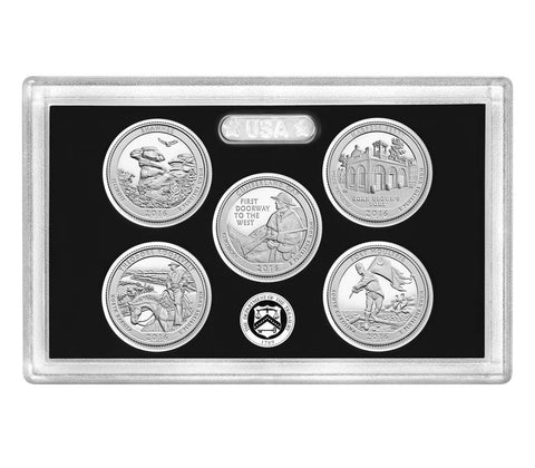 2018-S Silver America the Beautiful Quarter 5-coin Proof Set