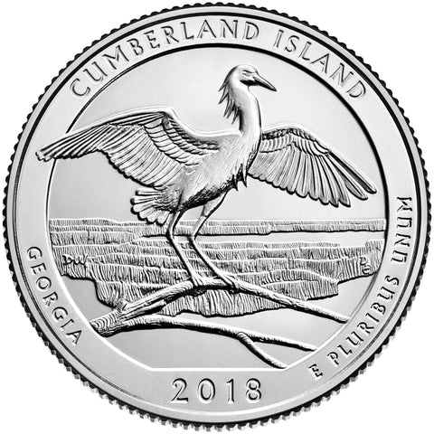 2018-P Cumberland Island National Seashore, GA Quarter