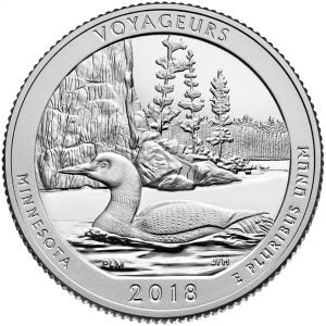 2018-P Voyageurs National Parks, MN Quarter