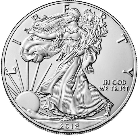 2018 Silver Eagle . . . . <br>Gem Brilliant Uncirculated