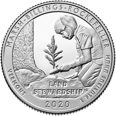 2020-S Marsh-Billings-Rockefeller Natl Park, VT Quarter