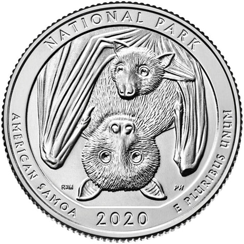 2020-P and D National Park of American Samoa Quarters