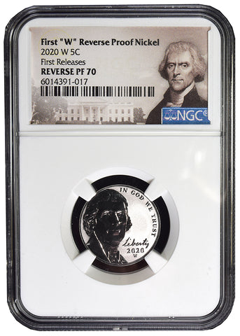 2020-W Jefferson Nickel . . . . NGC Reverse Proof-70 First Releases