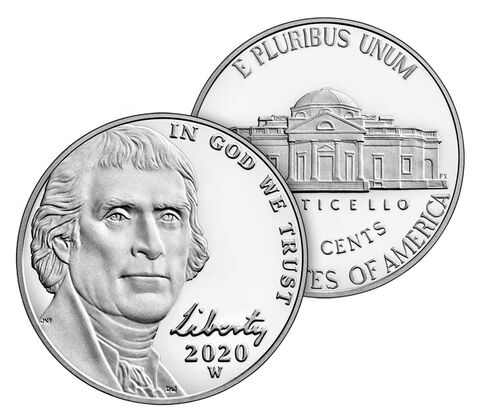 2020-W Jefferson Nickel