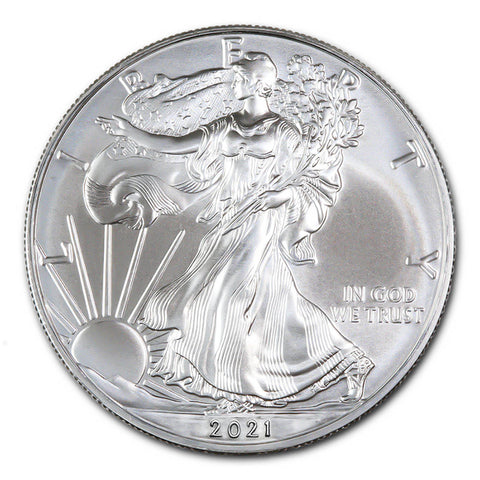 2021 Silver Eagles </br>Gem BU