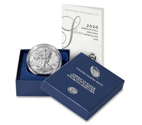2020-W Burnished Silver Eagle