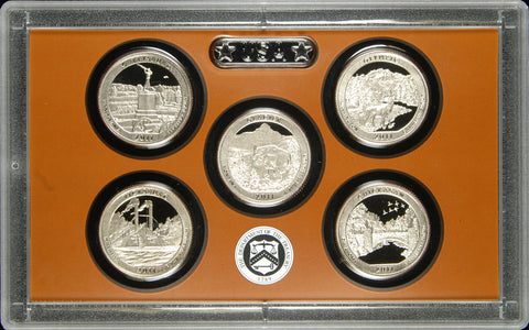 2011-S America the Beautiful Quarter 5-coin Proof Set