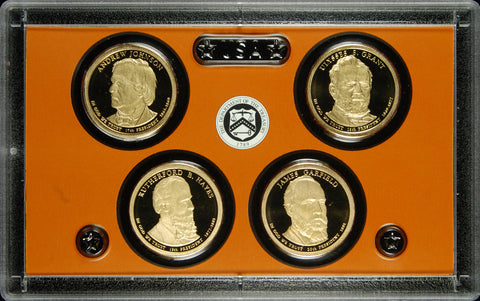 2010-S Presidential Dollar 4-coin Proof Set . . . . Superb Brilliant Proof