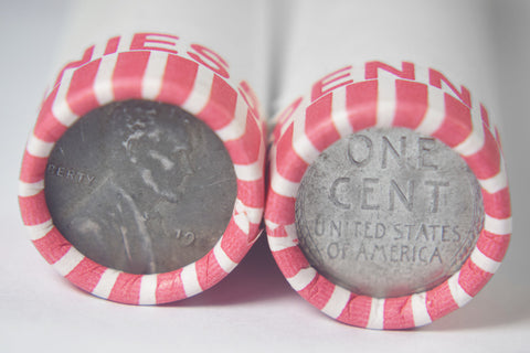 1943 Steel Cents Rolls