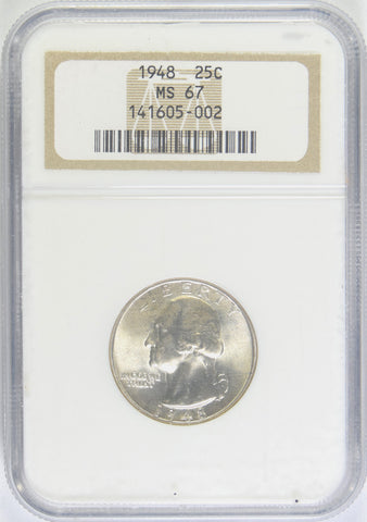 1948 Washington Quarter <br>NGC MS-67