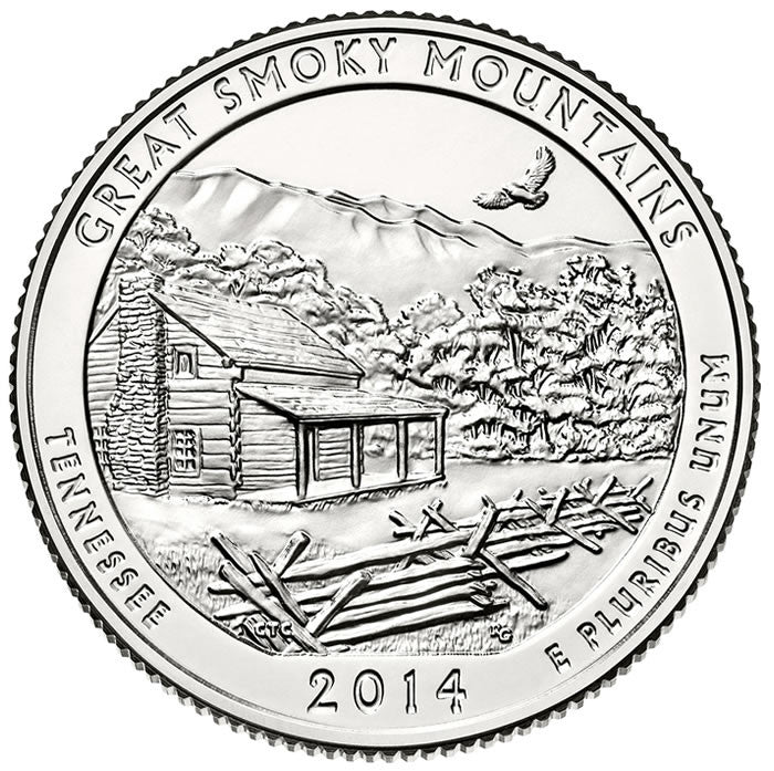 great smoky mountains shenandoah arches great sand dunes everglades 2014 uncirculated national park quarters