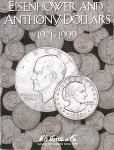 Eisenhower and Susan B. Anthony Dollar Harris Coin Folder